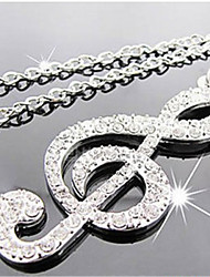 Woman's The Symbol of Music Party/Work/Casual Alloy/Diamond Pendant Necklace