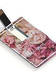 32gb usb tarjeta de diseño de memoria USB hermosa flor