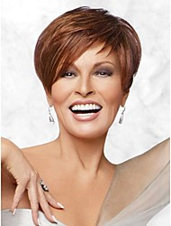 High Quality Human Hair  Capless Short Wavy Mono Top Human Hair Wigs 12 Colors to Choose