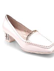 Shepherdess new white shoes cowhide diamond metal square head mixed colors party girl with light-colored shoes Peas