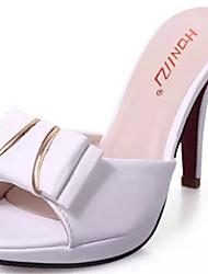 Women's Shoes Stiletto Heel Open Toe Slippers Dress Black/White