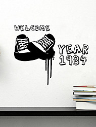 Wall Stickers Wall Decals , Sneakers Sticker PVC Wall Stickers