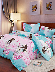 Mingjie Pink Lovers Sets 4pcs Duvet Cover Sets Bed Linen China Queen Size and Full Size
