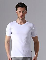 Men's Casual/Sport Pure Short Sleeve Regular T-Shirts (Cotton Blends/Elastic/Knitwear/Lycra/Microfiber/Spandex)