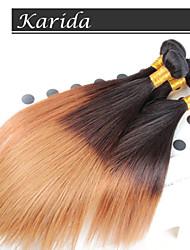 suave ombre brasileña virginal del pelo recto, 3 PC / ventas al por mayor del pelo ombre recta teje color 1b / 27 #