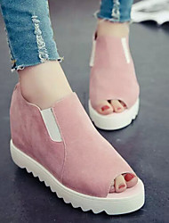Women's Shoes Wedge Heel Peep Toe Comfort Increase Sandals Casual Green/Pink