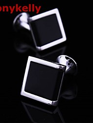 Party/Work/Casual Silver Plated Cufflinks