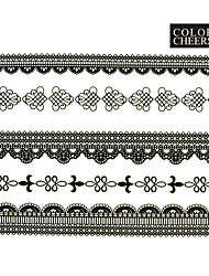 1 - Autres - Blanc - Motif - 23x15.5x0.1 - en Papier - Tatouages Autocollants - Color Cheers -