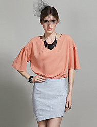 Chiffon Loose Short Sleeve Blouse