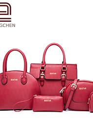 Handcee® Vintage Style Good Quality PU and Cheap Woman PU Handbag