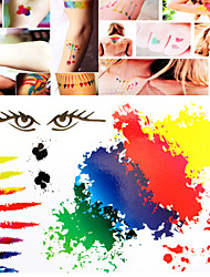 Tattoo Stickers Non Toxic/Tribal/Hawaiian/Lower Back/Waterproof Others Women/Men/Adult Multicolored Paper   S001