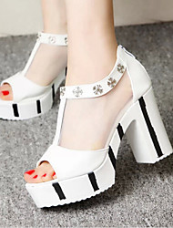Astrider Women's Shoes Black/White Platform 3-6cm Sandals