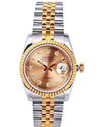 Men's Watch  Sapphire Table Mirror, 316L Stainless Steel Strap 18K Gold Plated Sheet Body, Top Diamond Bezel Cool Watch Unique Watch