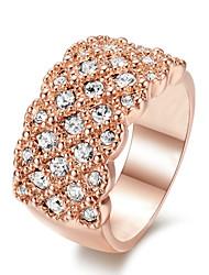 T&C Women's Fashion Classic 18K Rose Gold Plated Lovely Rhinestones Star alloy Finger Rings