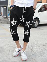 2014 nouvelle mode mens sarouel grands pantalons de fichiers de pantalons hip hop de plaisir en plein air&motif de star du sport mens