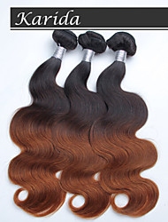 3 Pcs/Lot Ombre Hair Body Wave Wholesale Peruvian Hair, Raw Unprocessed Virgin Peruvian Hair