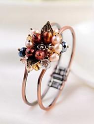 Vintage Gemstone & Crystal Cuff Bracelet