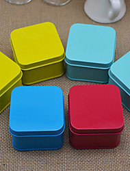 6 Piece/Set Favor Holder - Cuboid Iron(nickel plated) Favor Tins and Pails/Favor Boxes Non-personalised