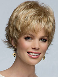 a nova Europa e América deve retardador de cabelo de alta temperatura peruca de fios de seda volume de curto fofo