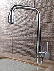 Warpeu® Contemprorary Chrome Single Lever 2-Ways Kitchen Sink Faucet Mixer