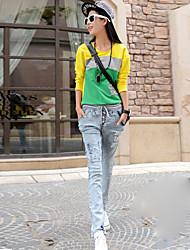 Women's Elastic Waist Harem Jeans