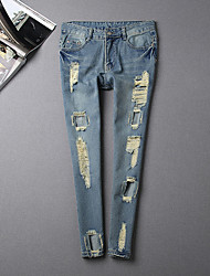 Informell Rund FRAUEN - Jeans ( Baumwolle )