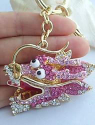 bolsa encantador corrente chave original do dragão w cristais de strass rosa