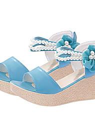 DOPO Women's Shoes Blue/Pink/Almond Wedge Heel 3-6cm Sandals