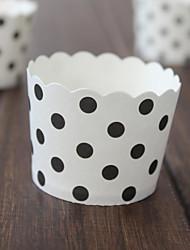 Partito da tavola Accessori decorativi per torte Battesimo/Compleanno Classico Cilindro Non personalizzato Carta Bianco #