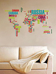 Wall Stickers Wall Decals,Funlife® Colorful World Map Nursery Kids Room Wall Sticker