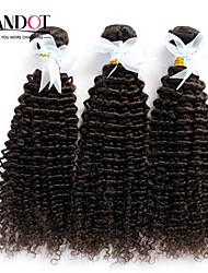 """3 Stück lot 12 """"-30"""" unverarbeitete indische verworrenes lockiges reines Haar Einschlagfäden natürliche schwarze 1b # raw remy"""
