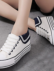 Women's Shoes Fabric Platform Comfort Round Toe Fashion Sneakers Casual Black/Blue/White