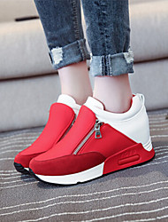 Canvas Lady Women's Shoes Black/Red Flat Heel 0-3cm Fashion Sneakers