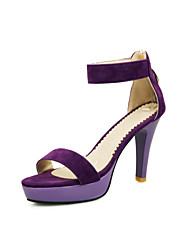 Zapatos de mujer - Tacón Cono - Comfort / Talón Descubierto - Sandalias - Exterior / Oficina y Trabajo / Vestido / Casual - Semicuero -