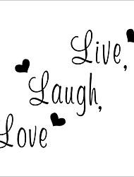 decalques de parede amor da família do riso ao vivo zooyoo8176 decoração decorativos de parede vinil removível decoração adesivos de