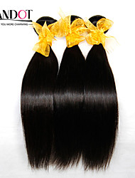"4 Pcs Lot 8""-28"" Malaysian Straight Virgin Hair Weave Bundles Natural Black Tangle Free Soft Human Hair Extensions Wefts"