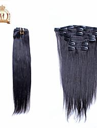 "12 ""-20"" Euraziatische virgin hair straight clip in human hair extensions beschikbaar 7pcs"