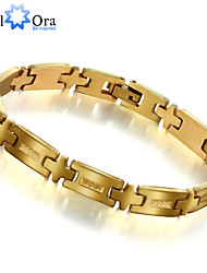 Fashion Golden Steel Bracelet For Man Charming 304L Stainless Steel with 18K Gold Plated Man's Bracelet