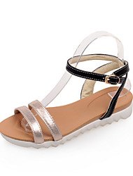 Women's Shoes Platform Slingback Sandals Dress Black/Silver/Gold