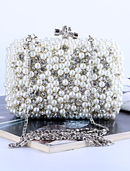 L.west Women Pearl dinner bag set auger hand bag