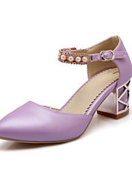 Mary Janes - Scarpe da donna - Tacco spesso - Tacco spesso DI PU