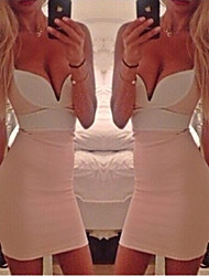 Women's Strapless dress color sexy bump buttock Night dress sexy
