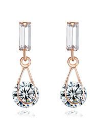 Cristal Pedras dos signos Estilo simples imitação de diamante Prata Ouro Rose Jóias Para