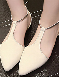 Women's Shoes Flat Heel Pointed Toe Flats Dress Black/Beige