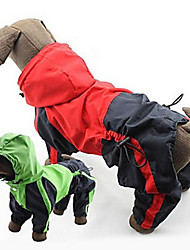 Hunde Regenmantel Rot / Grün Hundekleidung Frühling/Herbst Klassisch Wasserdicht