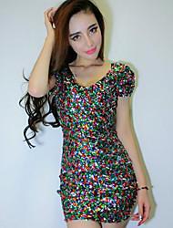 Vestidos ( Como en la foto , Lentejuela , Desempeño/Ropa de Noche ) - Desempeño/Ropa de Noche - para Mujer