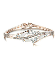 Sjewelry Girls Fashion White Opal Rose Gold-Plated Bracelet