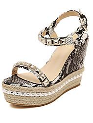 Women's Shoes Wedge Heel Wedges Sandals Office & Career/Casual Black/Gold