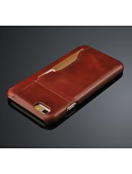 caso de la cubierta del cuero genuino para el iphone 6s 6 Plus