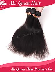 Ali Queen Hair products 6A Malaysian Virgin Hair Staight Natural Black Hair 3pcs/Lot 100% human hair extensions